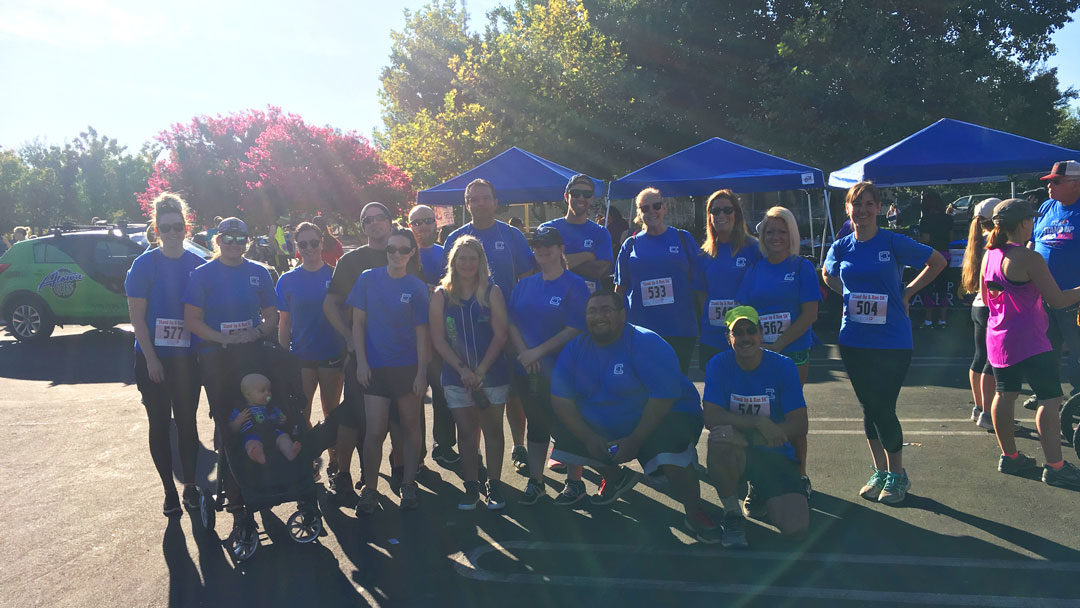 ClipperCreek employees and family at Stand Up Placer Run