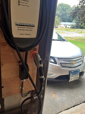 Chevy volt with HCS charging station