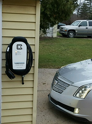 ClipperCreek EVSE with-Cadillac-ELR