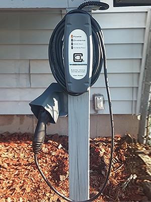 Customer Installation of LCS-25 EV Charging Station