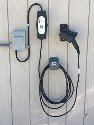 level 2 EVSE with evse accessories