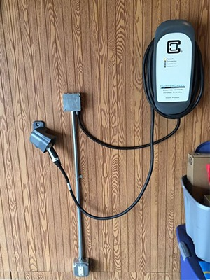 Residential installation of HCS-40 evse