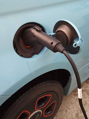 Fiat plugged in with LCS charging station