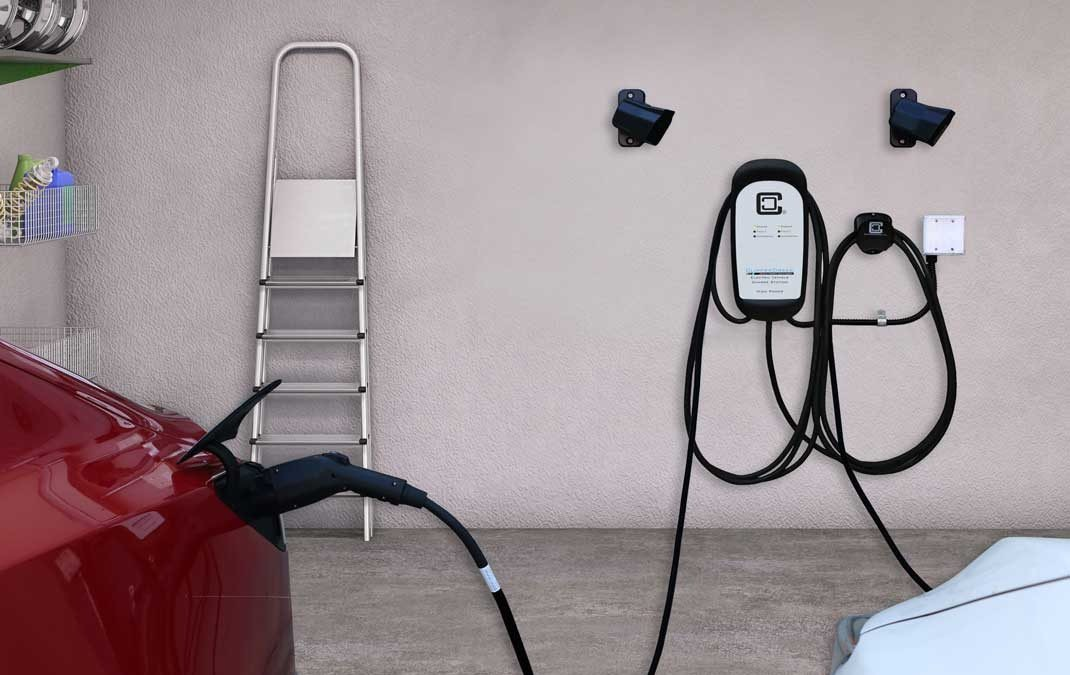 HCS 40 amp ev charging station released D50 in use residential