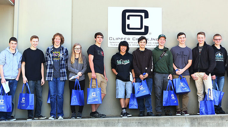 STEM students from Colfax High School Tour ClipperCreek, Inc.